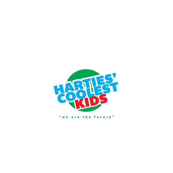 harties coolest kids logo design