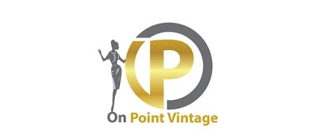 on point vintage logo design